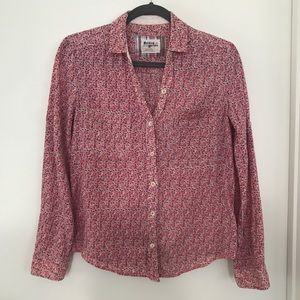 Anthropologie Holding Horses Floral Blouse